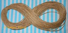 50mtrs fine poli ficelle jute naturel hesse rustique chaîne crafts shabby chic
