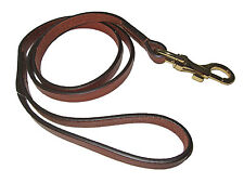 Ralph Lauren Collection Brown Leather Polo Dog Leash Pet Collar Lead