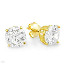 gold plated silver Earrings w/8.20ctw Cubic zirconias