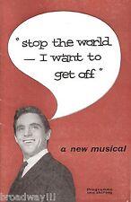 "Anthony Newley ""STOP THE WORLD"" Anna Quayle 1961 Nottingham Tryout Program"