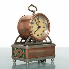 MAUTHE Musical Alarm TOP Clock Early 1910s Antique Germany Carriage/Mantel/Shelf