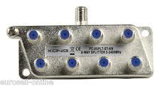 KÖNIG 8-fach SAT Antennen Verteiler Splitter HDTV 8fach F Verteiler DVBT2 DVB-T2