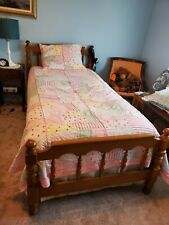 Kids Pottery Barn Pink Multi-Color Twin Quilt Blanket With Sham