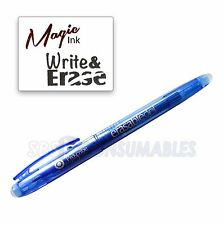 Proscribe Erasable Gel Pen. Friction Erase Blue Magic Ink Gel Roller Pens. 84524