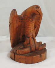 Hand Carved Wood Folk Art Eagle Sweet Face 9 1/2""