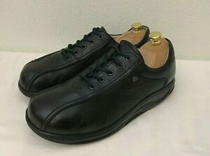 Finn Comfort Germany - Black Leather Men's Laced Loafers/Shoes UK 9  EU 43 Wide