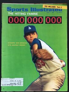 1968 Sports Illustrated Magazine Don Drysdale LA Dodgers Ted Williams Part 2