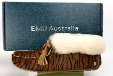 EMU Australia Womens Moonah Fur Sheepskin Moccasin #W11271-Tiger- Wmns Sz 6M US