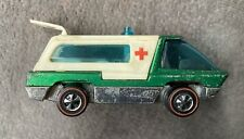 1969 Hot Wheels Redline The Heavyweights Ambulance Green / Mattel