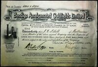 Scrip Australia 1925 - Marshall-Longton Lucknow Gold Mining Company, Lucknow