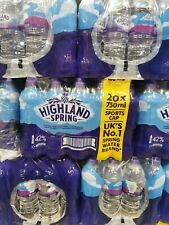 Highland Spring Still Water Sports Cap 20 x 750ml - FREE Next Day Delivery