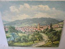 schönes Gemälde von Dettingen Horb Freudenstadt signiert Munding