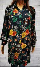 Womens Size 8 to 14 Longline Shirt Dress floral shirt top