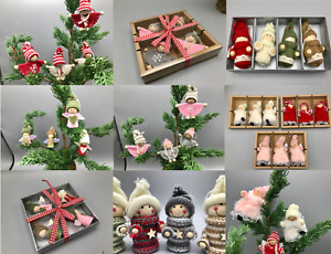 Tray Packs of Traditional and Contemporary Christmas Tree Decorations