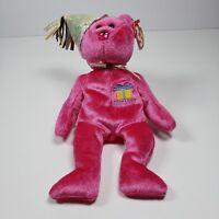 January Happy Birthday Pink Ty Beanie Baby Retired Rare