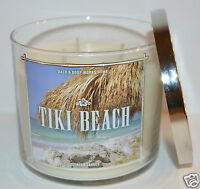 BATH BODY WORKS TIKI BEACH SCENTED CANDLE 3 WICK 14.5 OZ ORCHID VANILLA COCONUT