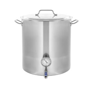 New CONCORD Stainless Steel Home Brew Kettle Brewing Stock Pot Beer Set