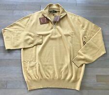 1,500$ Loro Piana Yellow Baby Cashmere Sweater Size XXXL, EU 58 Made in Italy