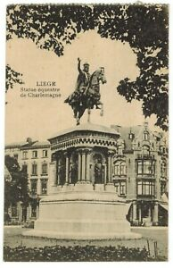 Vintage Charlemagne and His Guards Paris France Statue Equestrian Litho Postcard