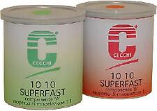 Resina epossidica bicomponente C-Systems 10 10 Super Fast da 800g (400g A + 400