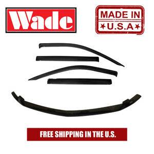Tape On Wind Deflector & Bug Shield For Chevy Colorado Extended Cab 2004 - 2012