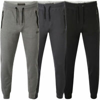 Mens Fleece Bottom Sweatpants Dissident Reid Zip Pocket Cuffed Joggers New