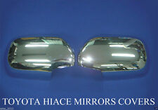 CHROME LEFT+RIGHT MIRROR COVER TRIM FOR NEW VAN TOYOTA HIACE COMMUTER 2008-2013
