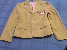 Size 7 Disney Lizzy Mc Guire jacket Girls tan corduroy long sleeve blazer