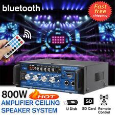 800W bluetooth Stereo Audio Amplifier Home HiFi Music USB SD FM Mic AMP 12V/220V