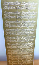 Peel Off Sheet - Gold - Stepmother/Stepfather/Stepson/Stepdaughter - E542