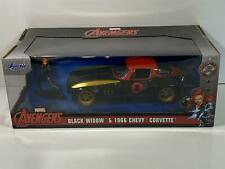 Black Widow and 1966 Chevy Corvette 1:24 Scale Jada 31749