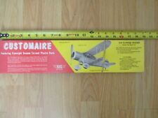 """Vintage SIG Customaire Balsa Model Airplane 18"""" wingspan rubber powered open box"""