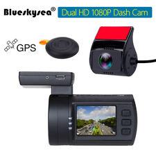 Blueskysea Mini 0906 Dual  HD 1080P Lens Car Dash Camera GPS DVR Cam Sony IMX291