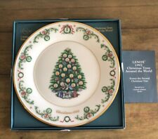 Lenox Christmas Trees Around The World Plate 1992 - France - 2nd in Series