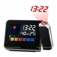 Digital LCD LED Projektor Projektion Wecker Kalender Wetter Statio