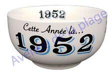Bol année de naissance 1952 en grès - idée cadeau anniversaire neuf