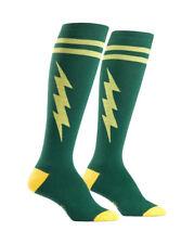 5202162040c Sock It to Me Super Hero Knee-High Socks - Green Yellow