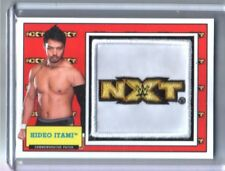 WWE Hideo Itami 2017 Topps Heritage NXT Com Patch Relic Card SN 187 of 299