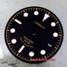 30.4mm black corgeut rose golden marks Watch Dial for 2824 2836 Movement 33