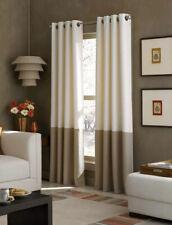 New Curtainworks Kendall Grommet Curtain Window Panel 52 x 95 Ivory Brown