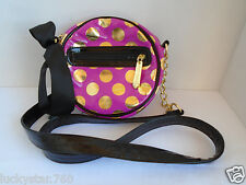 BESTSEY JOHNSON POKA DOTED PINK CROSSBODY PURSE