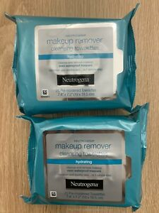 NEW! 2 Packs Neutrogena Makeup Remover Facial Towelettes 25 wipes each