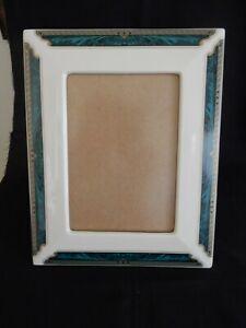 Vintage Lenox Porcelain Picture Frame Malachite and Gold Design Finish 5 x 7 Box