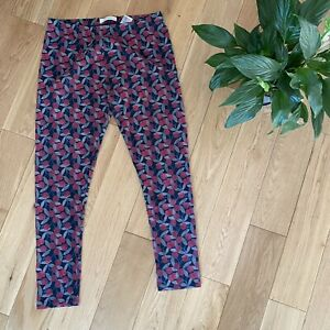 Seasalt Size 16 organic cotton red grey cherry print minerals leggings casual