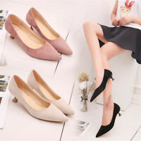 Fashion Womens Platform Kitten Heels Sexy Pumps Pointed Toe Casual Shoes Size 8