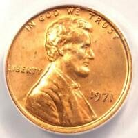 1971 Doubled Die Obverse DDO Lincoln Cent Penny 1C FS-101 - ANACS MS64 RD (Red)