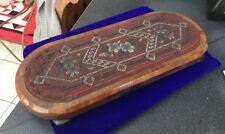 Antique Victorian Beadwork Beaded Clock Table Stand Needs Restoration