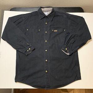 Vintage Carhartt Men's Blanket Lined Snap Chore Shirt Work Wear Size Large