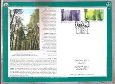 CYPRUS 2011 EUROPA FORESTS MOUFFLON TREES BLACK PINE FD CANCEL UNUSUAL NICE CARD