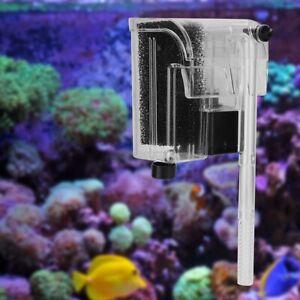 Aquarium Fish Tank Mini Waterfall Hang On External Oxygen Pump Water Filter AU